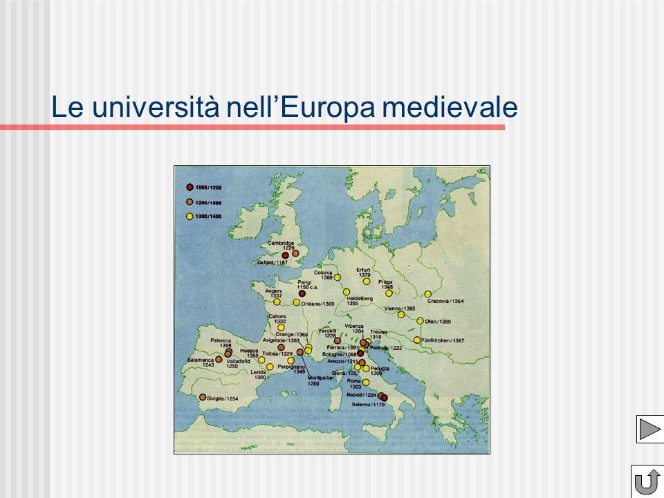 Le università nellEuropa medievale