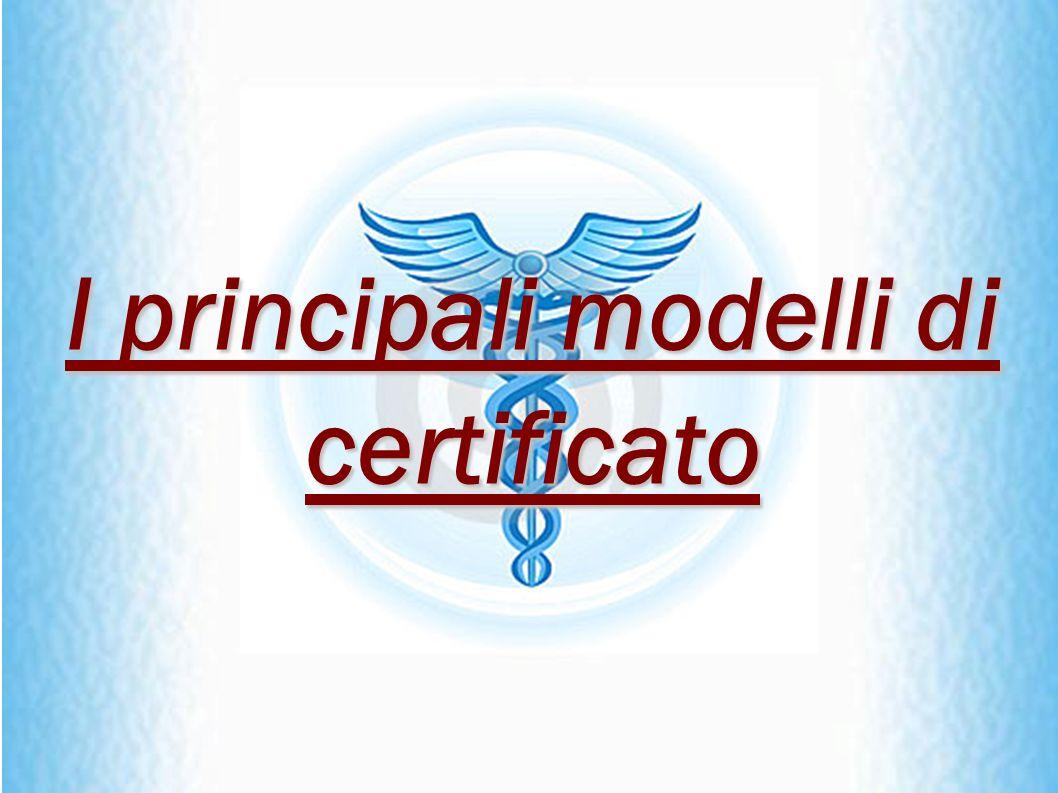 I principali modelli di certificato
