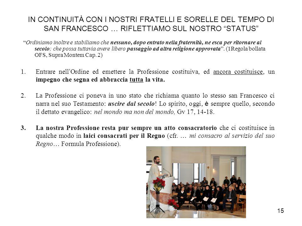 14 COSÈ LOFS 1.LOFS è nella Chiesa una Associazione Pubblica di Fedeli a carattere universale costituita dai fedeli ed eretta in persona giuridica dal