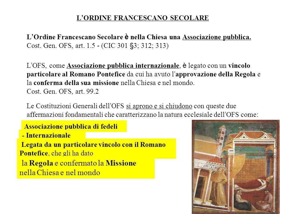 7 La nomenclatura francescana si ispira a questa realtà storico-giuridica, anche se con qualche variante: primo ordine religiosi e chierici con voti;