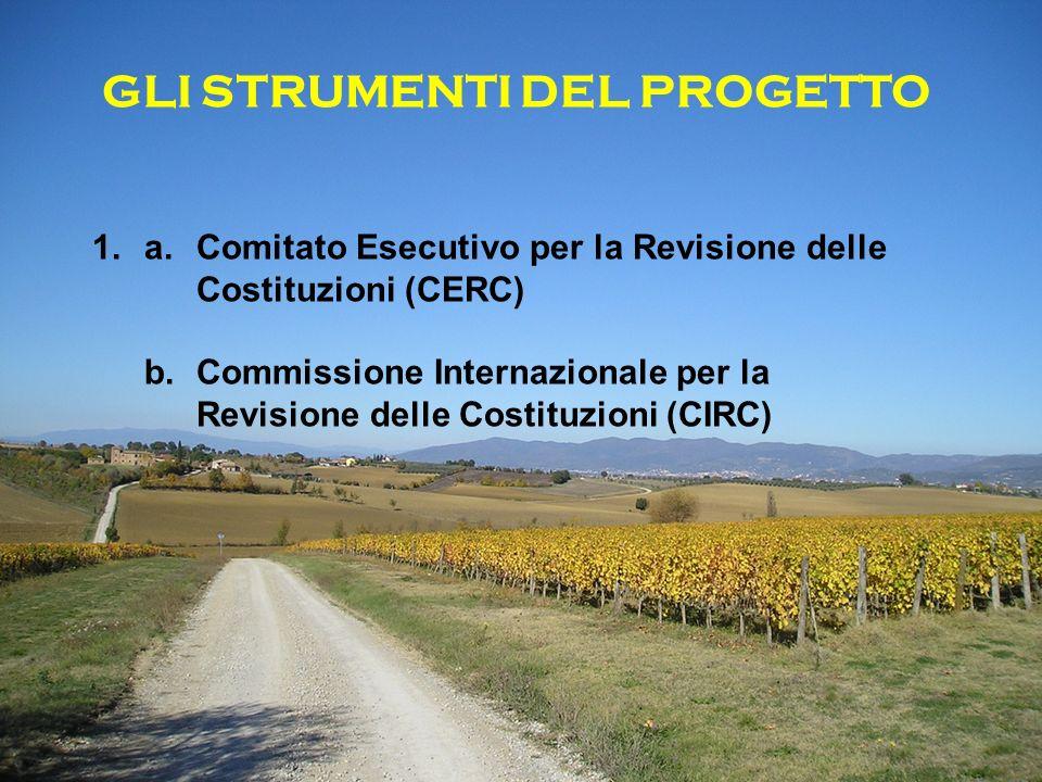 GLI STRUMENTI DEL PROGETTO 1.a. Comitato Esecutivo per la Revisione delle Costituzioni (CERC) b.