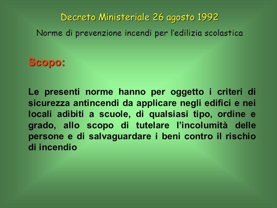Segnaletica di sicurezza Si applicano: D.P.R.8 Giugno 1982 n°524 D.L.gs.