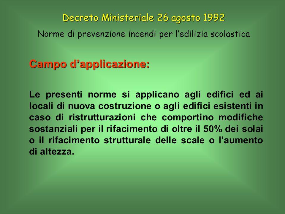 Campo dapplicazione: Le presenti norme si applicano agli edifici ed ai locali di nuova costruzione o agli edifici esistenti in caso di ristrutturazion