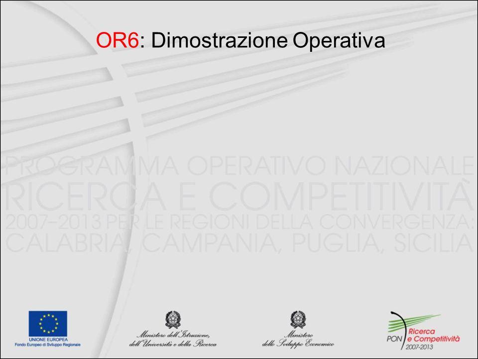 OR6: Dimostrazione Operativa