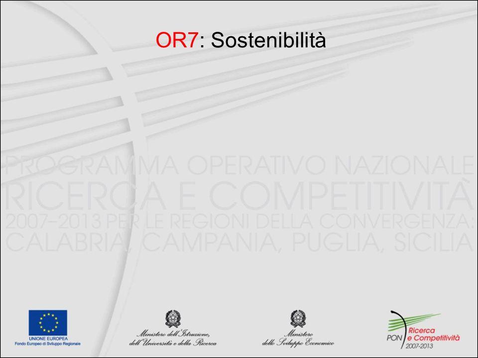 OR7: Sostenibilità