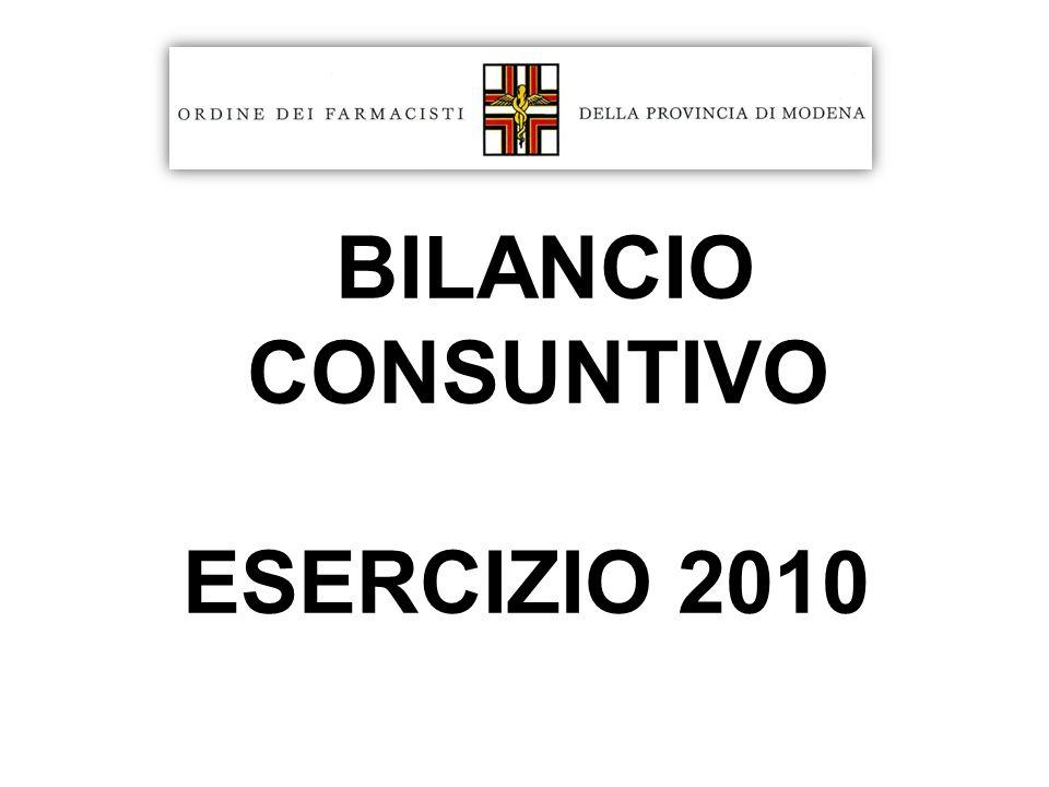 BILANCIO CONSUNTIVO ESERCIZIO 2010