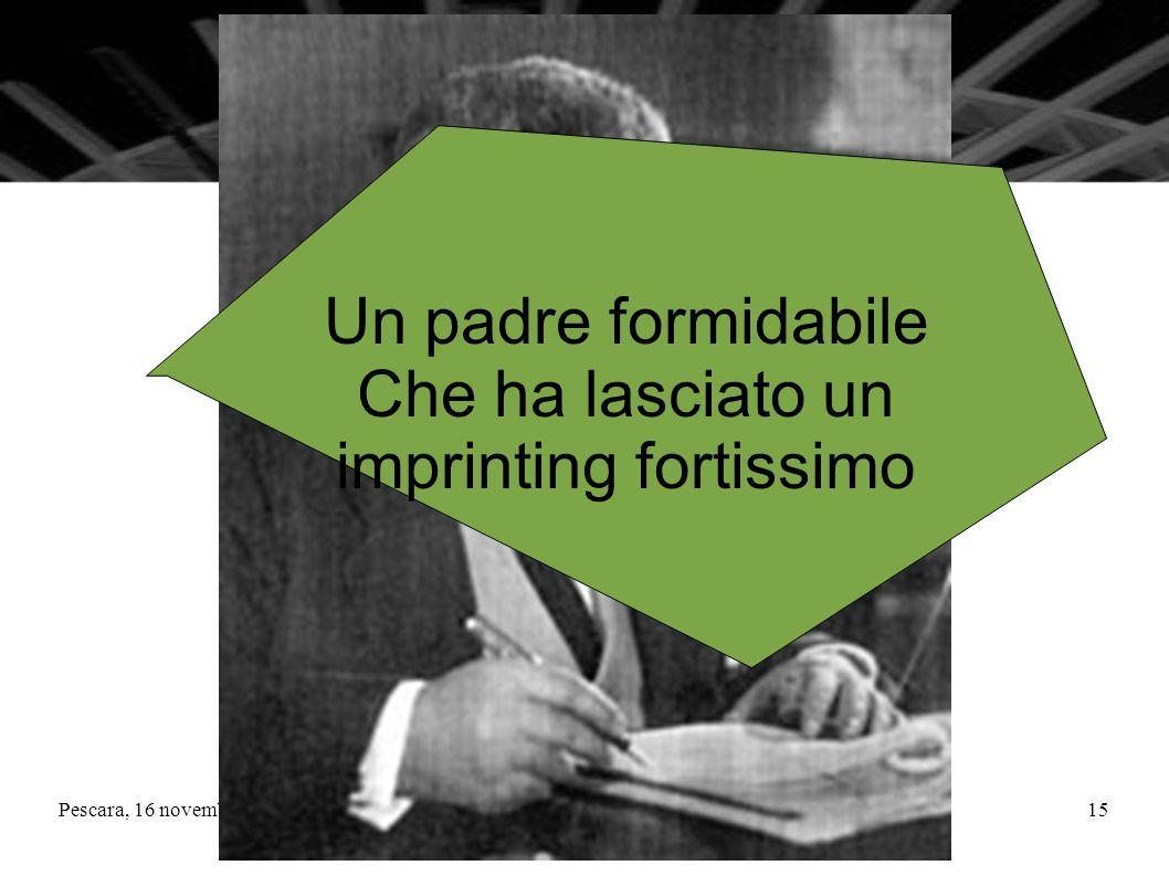 Pescara, 16 novembre 2010La Matematica nella nuova scuola superiore15 Un padre formidabile Che ha lasciato un imprinting fortissimo