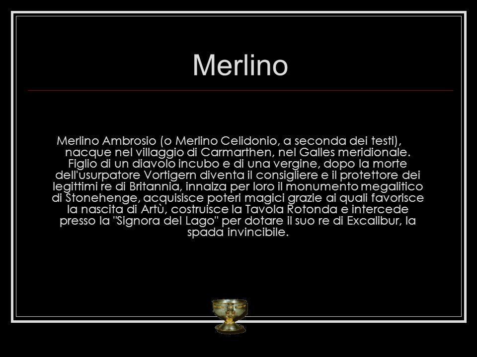 Merlino Merlino Ambrosio (o Merlino Celidonio, a seconda dei testi), nacque nel villaggio di Carmarthen, nel Galles meridionale. Figlio di un diavolo