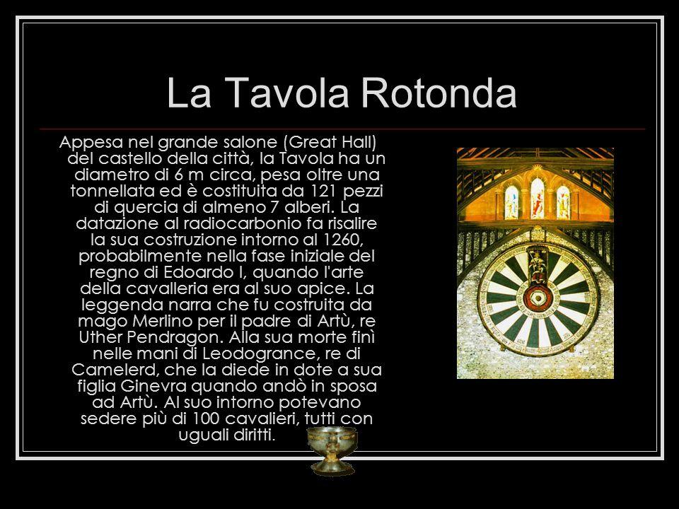 La Tavola Rotonda Appesa nel grande salone (Great Hall) del castello della città, la Tavola ha un diametro di 6 m circa, pesa oltre una tonnellata ed