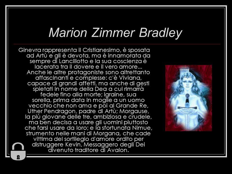 Marion Zimmer Bradley Ginevra rappresenta il Cristianesimo, è sposata ad Artù e gli è devota, ma è innamorata da sempre di Lancillotto e la sua coscie
