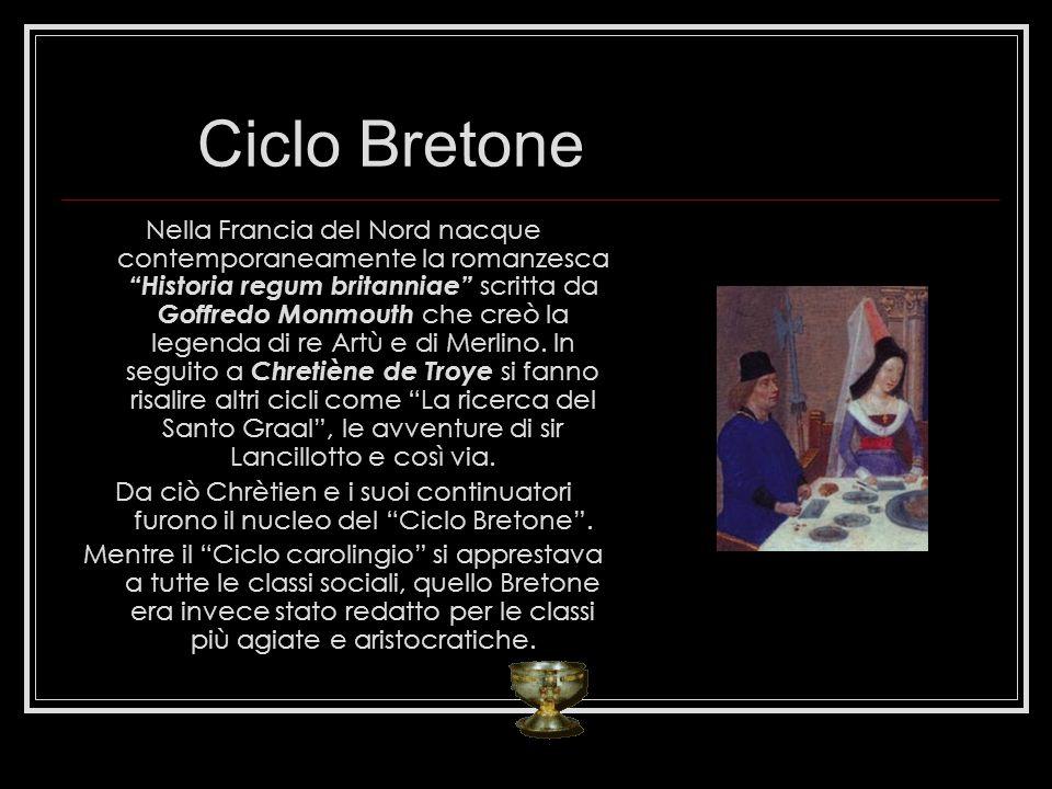 Ciclo Bretone Nella Francia del Nord nacque contemporaneamente la romanzesca Historia regum britanniae scritta da Goffredo Monmouth che creò la legend