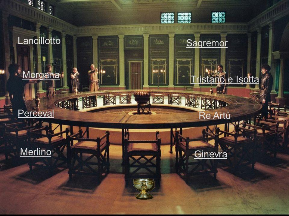 Lancillotto Re Artù Perceval Ginevra Merlino Sagremor Tristano e Isotta Morgana