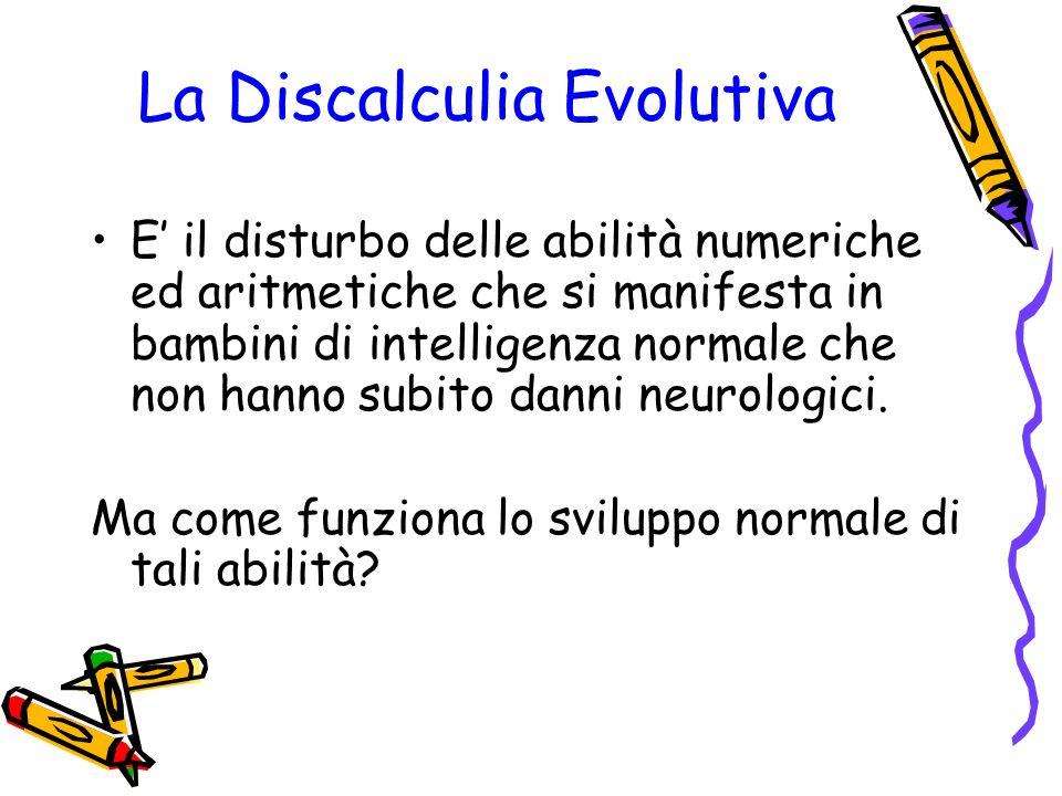 La Discalculia Evolutiva E il disturbo delle abilità numeriche ed aritmetiche che si manifesta in bambini di intelligenza normale che non hanno subito