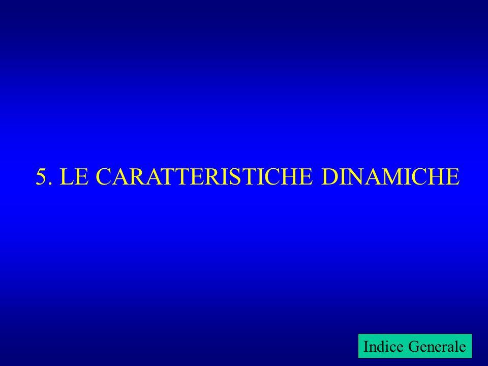 5. LE CARATTERISTICHE DINAMICHE Indice Generale