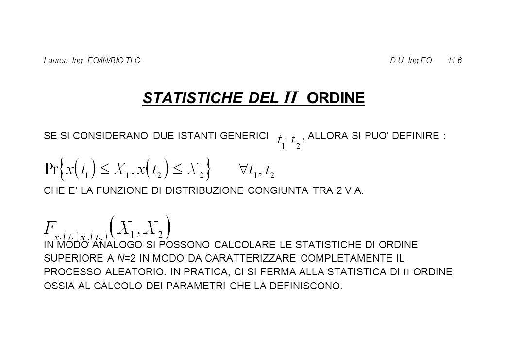 VALORE MEDIO VARIANZA FUNZIONE DI COVARIANZA FUNZIONE DI CORRELAZIONE (PROC.