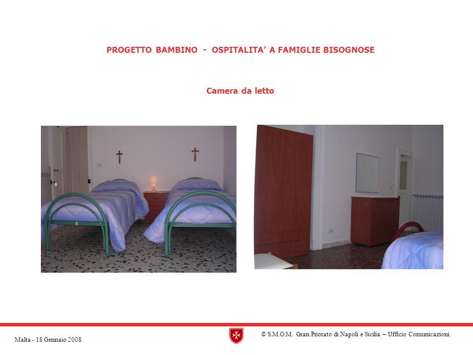 PROGETTO BAMBINO - OSPITALITA A FAMIGLIE BISOGNOSE Camera da letto © S.M.O.M.