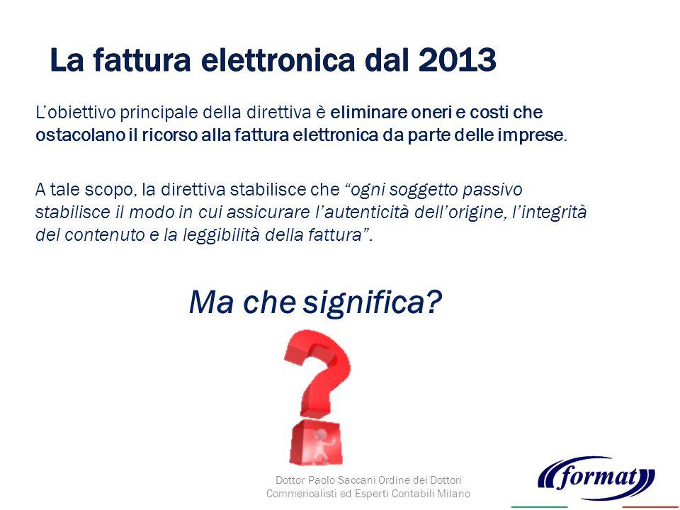 Lobiettivo principale della direttiva è eliminare oneri e costi che ostacolano il ricorso alla fattura elettronica da parte delle imprese.