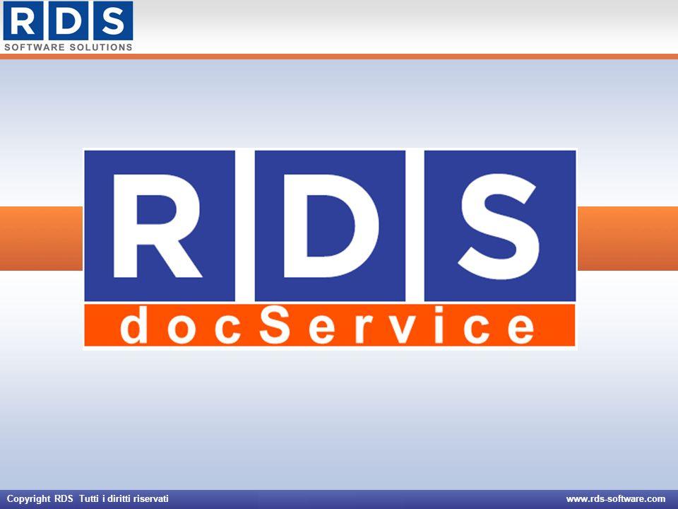 Copyright RDS Tutti i diritti riservati www.rds-software.com Creare nuove schede documento Associare un nuovo documento elettronico alla scheda Aggiornare o eliminare schede documento preesistenti Funzione di amministrazione