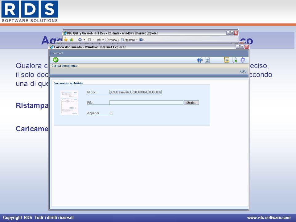 Copyright RDS Tutti i diritti riservati www.rds-software.com Aggiornamento documento elettronico Qualora ci fosse la necessità di aggiornare il docume