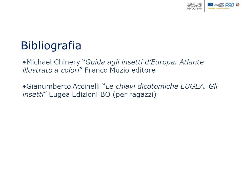 Bibliografia Michael Chinery Guida agli insetti dEuropa.