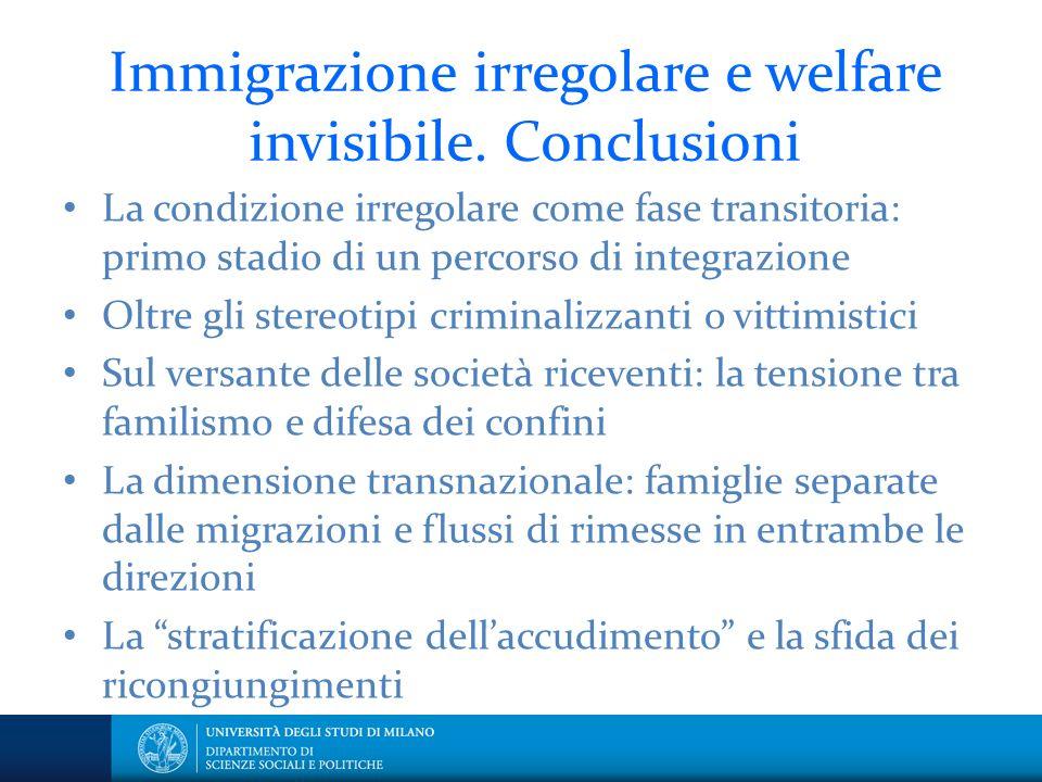 Immigrazione irregolare e welfare invisibile.