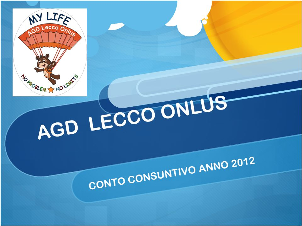 AGD LECCO ONLUS CONTO CONSUNTIVO ANNO 2012