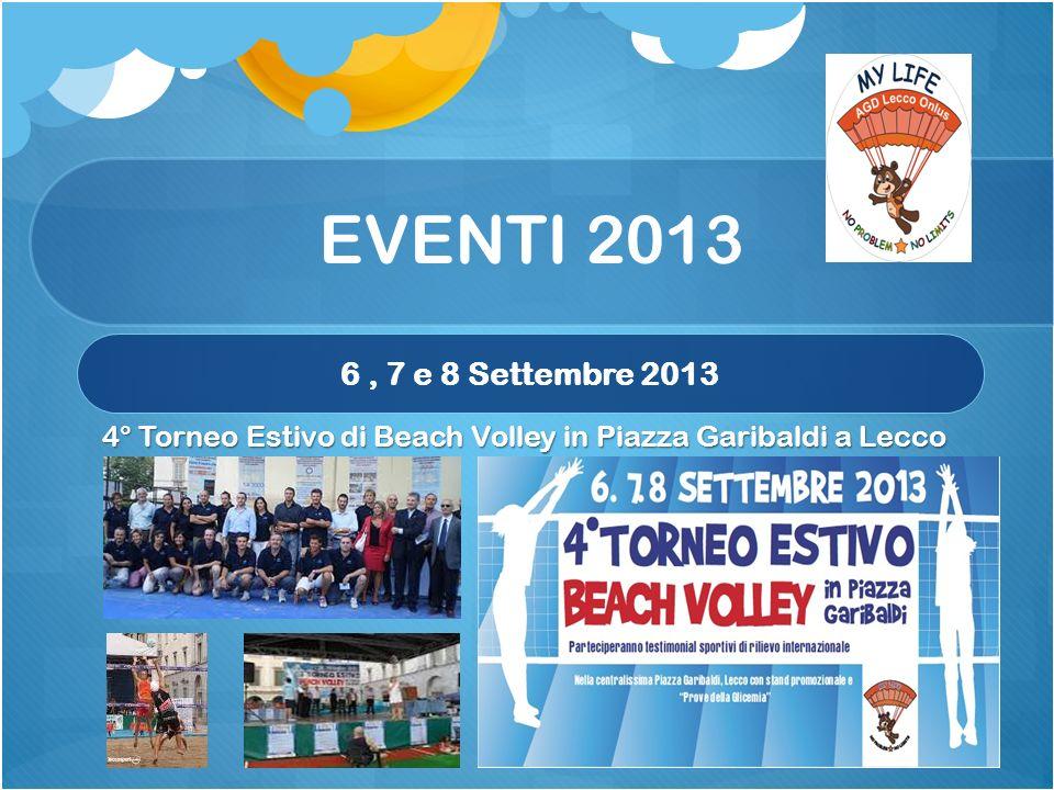 EVENTI 2013 6, 7 e 8 Settembre 2013 4° Torneo Estivo di Beach Volley in Piazza Garibaldi a Lecco