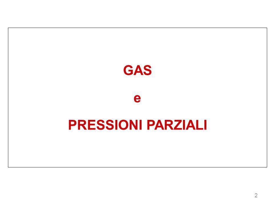 2 GAS e PRESSIONI PARZIALI