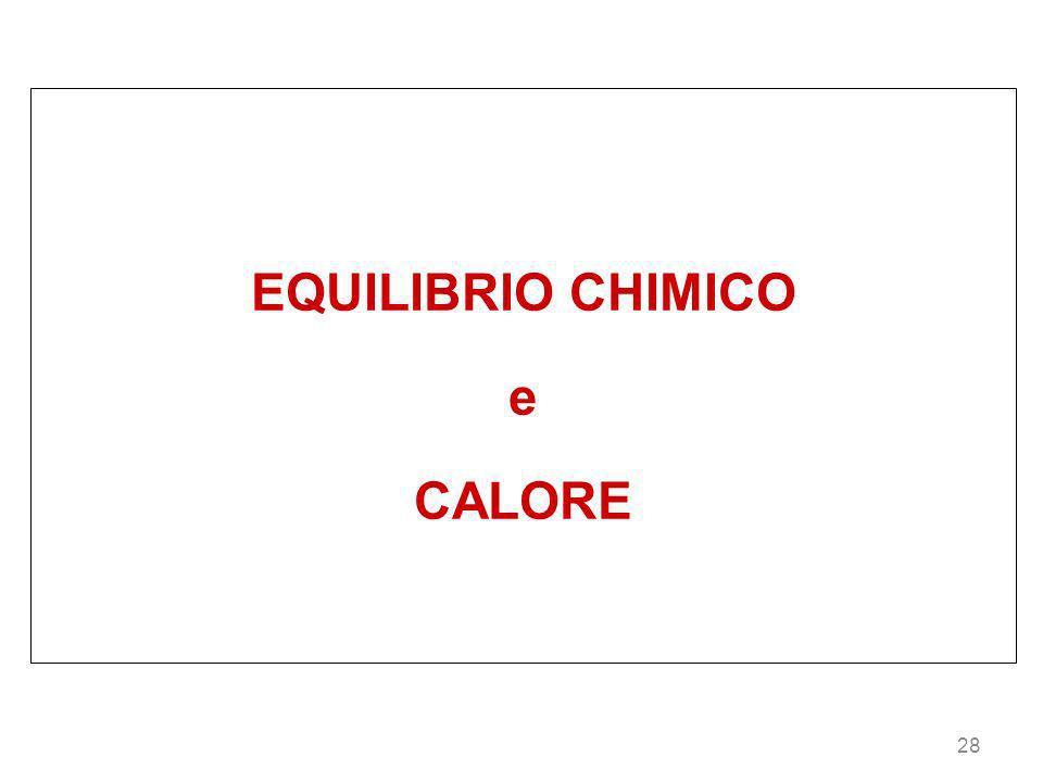 28 EQUILIBRIO CHIMICO e CALORE