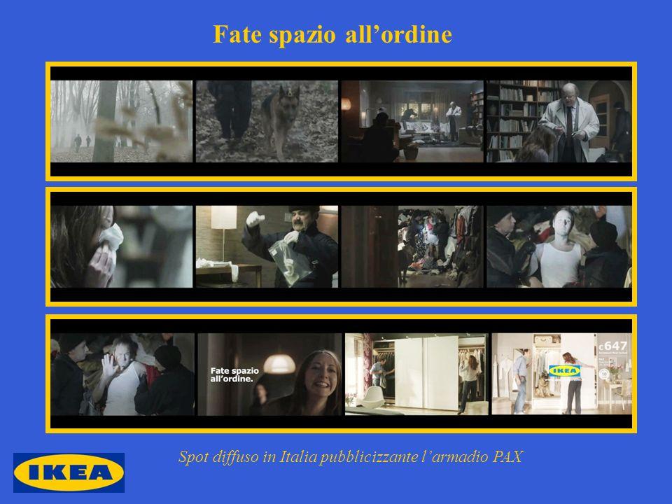 Fate spazio allordine Spot diffuso in Italia pubblicizzante larmadio PAX