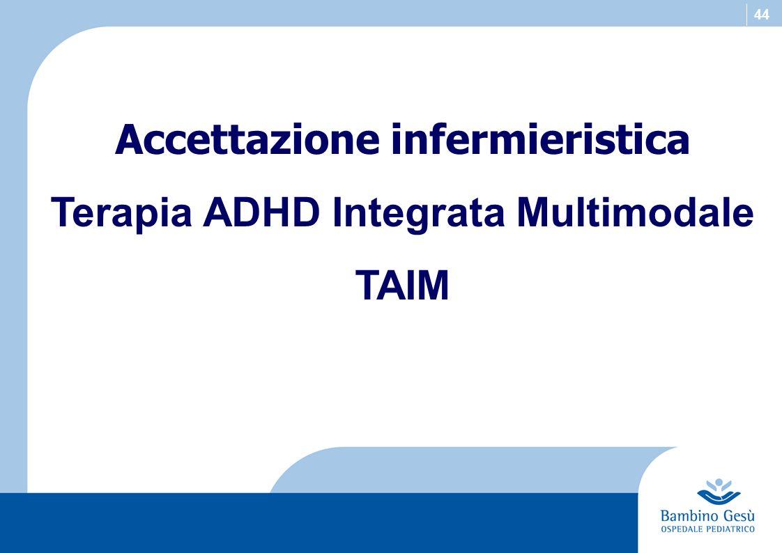 44 Accettazione infermieristica Terapia ADHD Integrata Multimodale TAIM
