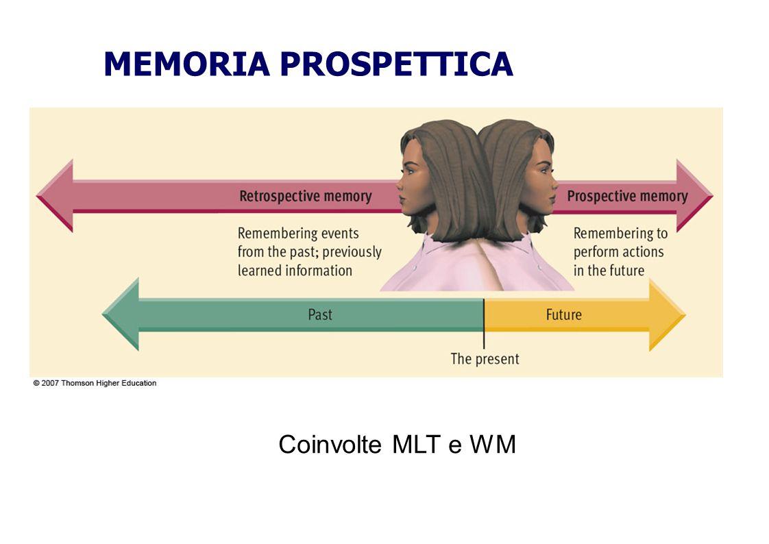Coinvolte MLT e WM MEMORIA PROSPETTICA