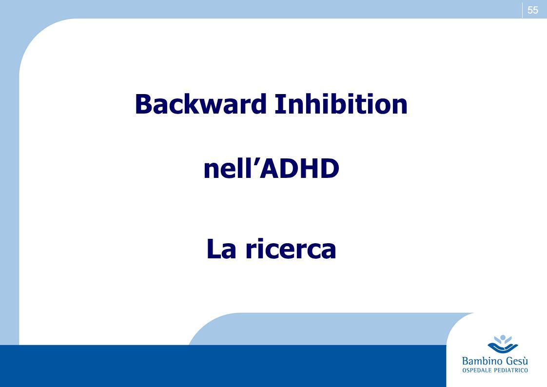 55 Backward Inhibition nellADHD La ricerca