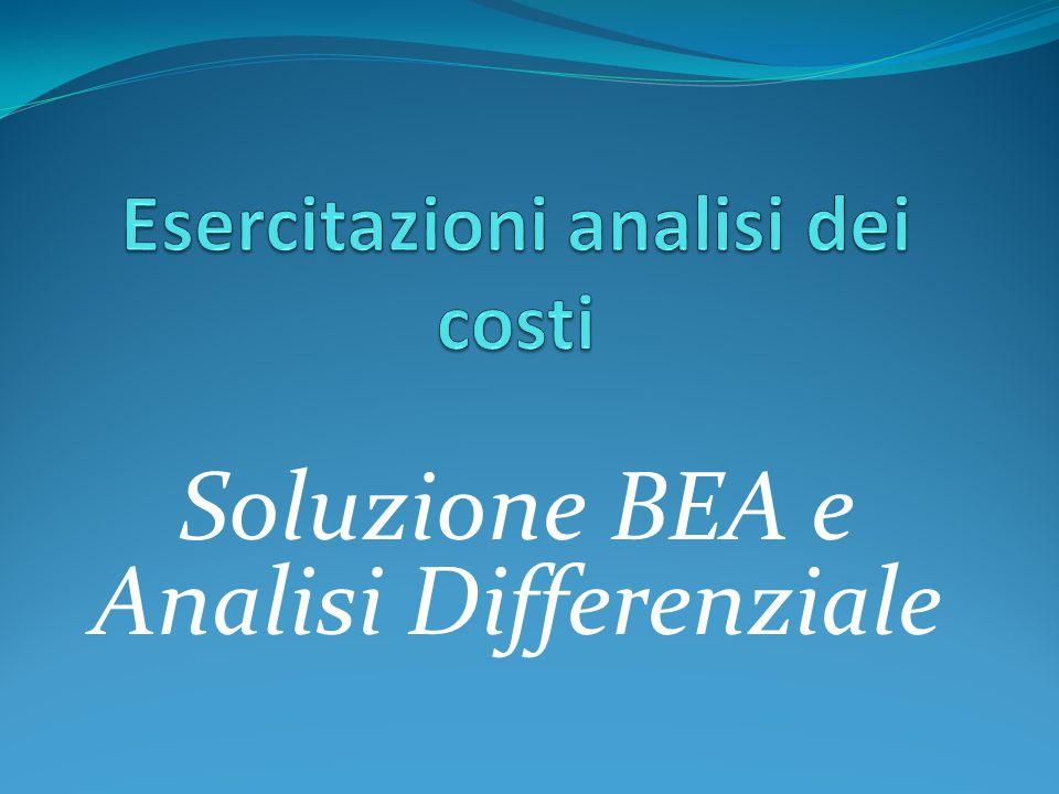 Soluzione BEA e Analisi Differenziale