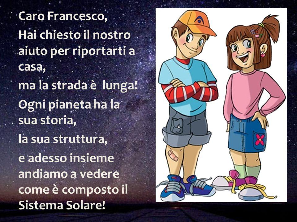 Caro Francesco, Hai chiesto il nostro aiuto per riportarti a casa, ma la strada è lunga! Ogni pianeta ha la sua storia, la sua struttura, e adesso ins
