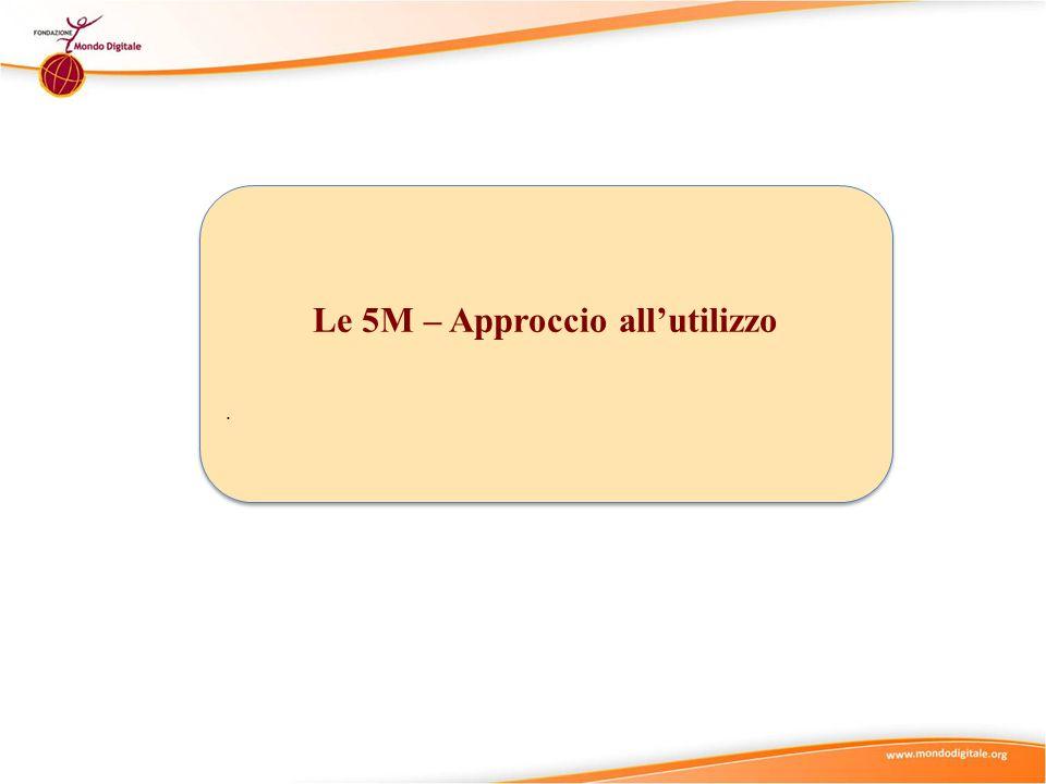 Le 5M – Approccio allutilizzo. Le 5M – Approccio allutilizzo.