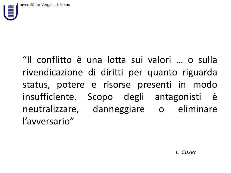Università Tor Vergata di Roma Amate il vostro antagonista perché è la persona che vi fa eccellere.
