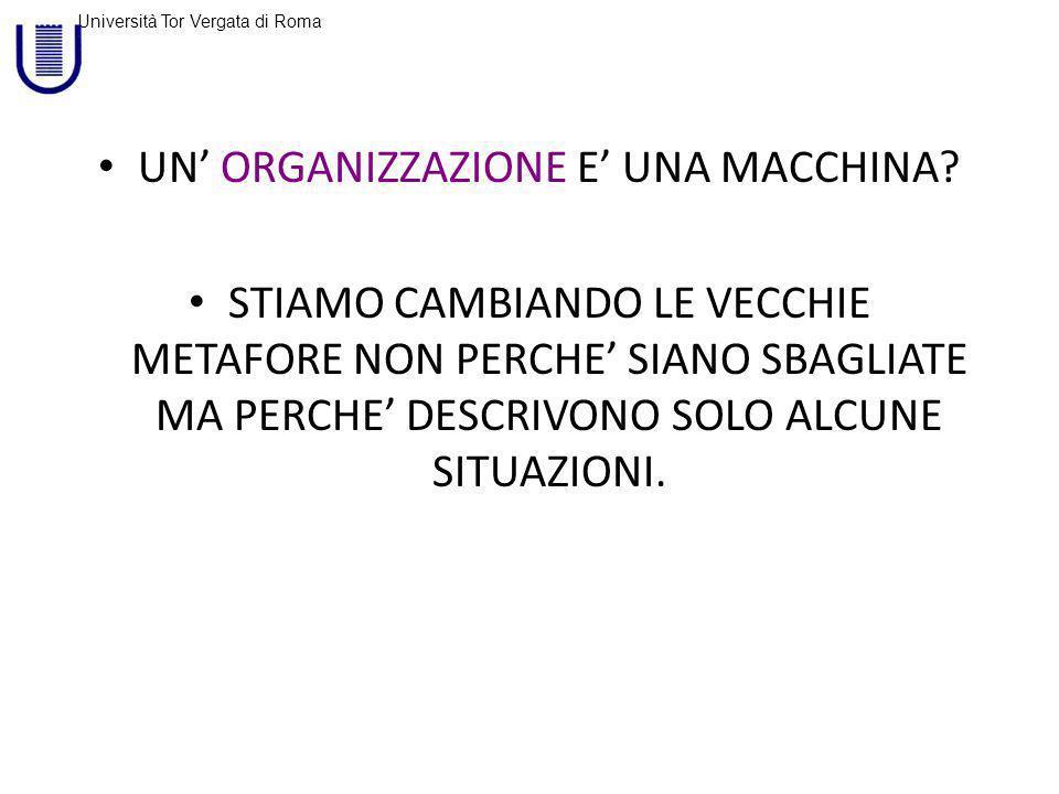 Università Tor Vergata di Roma UN ORGANIZZAZIONE E UNA MACCHINA.