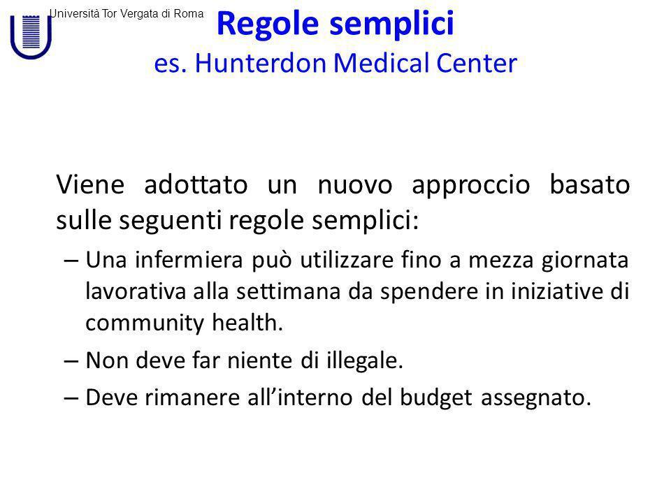 Università Tor Vergata di Roma Regole semplici es.