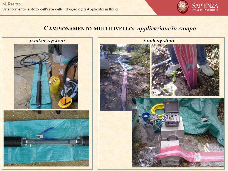 M. Petitta Orientamento e stato dellarte della Idrogeologia Applicata in Italia C AMPIONAMENTO MULTILIVELLO : applicazione in campo packer systemsock