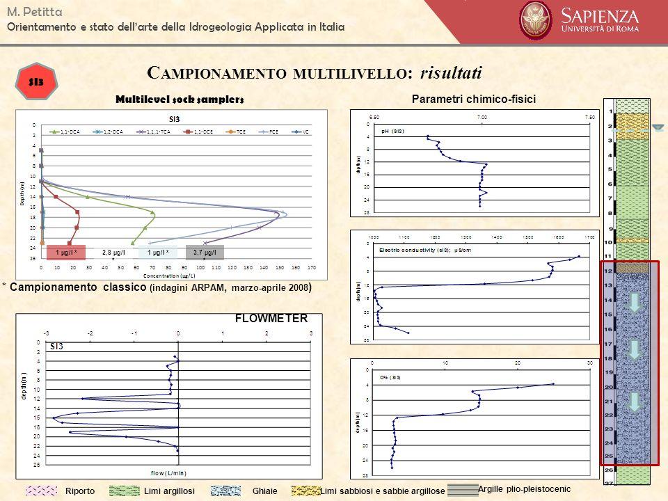M. Petitta Orientamento e stato dellarte della Idrogeologia Applicata in Italia RiportoLimi argillosiGhiaieLimi sabbiosi e sabbie argillose Argille pl