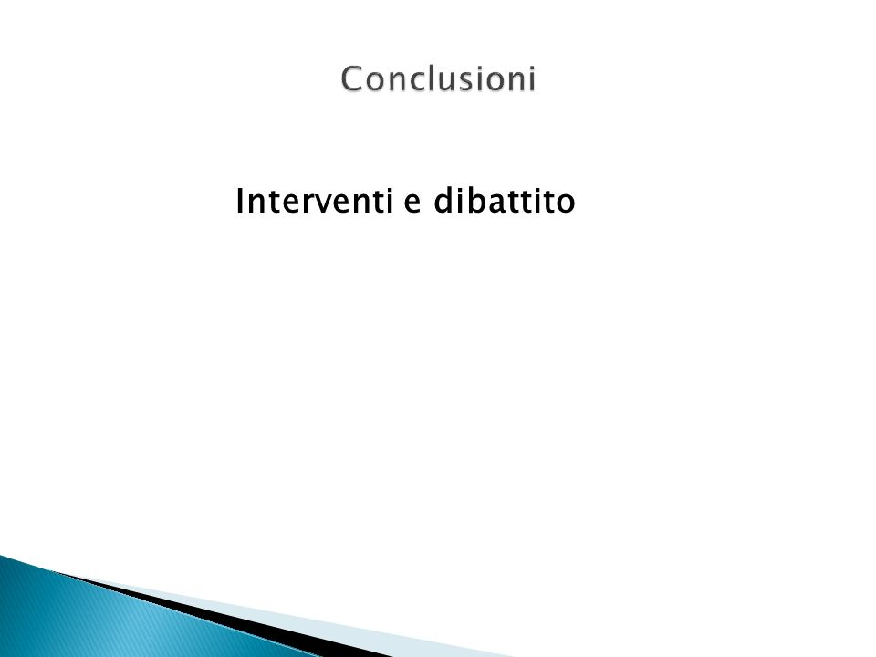 Interventi e dibattito