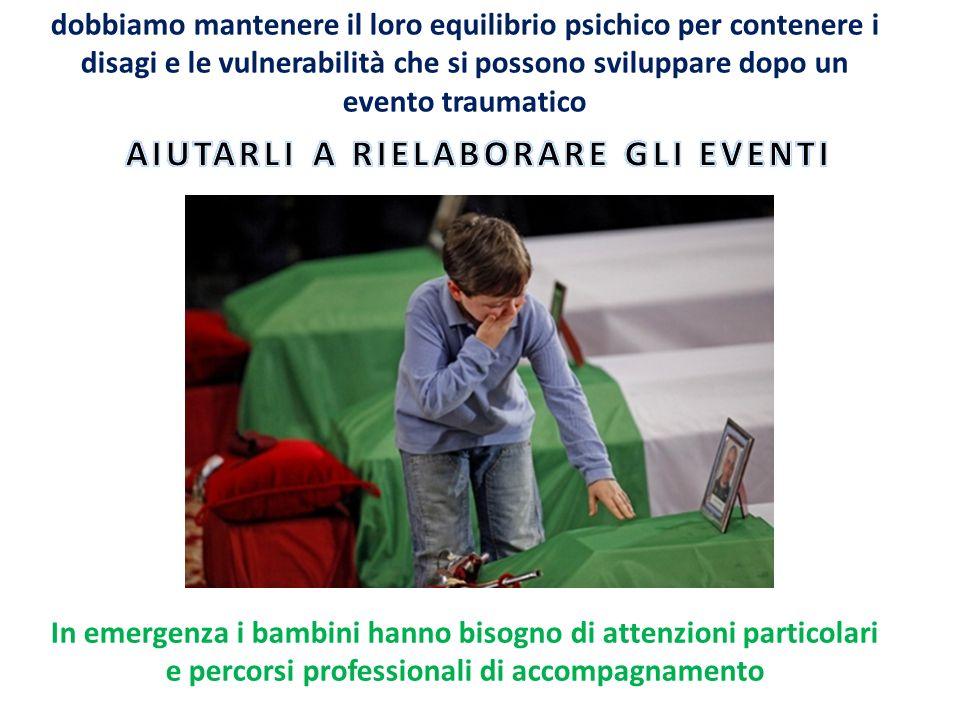 STRUTTURA PROTETTA AQUILA 2009 90% BAMBINI ITALIANI MAMME PRESENTI E VICINE AI FIGLI FIDUCIA DEI GENITORI NEI VOLONTARI (ACCETTAZIONE E RISPETTO DELLE REGOLE DELLA STRUTTURA PROTETTA) EDUCATORI COMPETENTI ACCETTAZIONE E RICONOSCIMENTO DEL RUOLO DI EDUCATORE DA PARTE DEI BAMBINI EMILIA 2012 80% BAMBINI STRANIERI INOLTRE ERANO IL TRIPLO RISPETTO LAQUILA TENDENZA DELLE MAMME A LASCIARE I BAMBINI DA SOLI PER LUNGHI PERIODI DELLA GIORNATA OGNI SETTIMANA INIZIALE DIFFIDENZA DEI GENITORI NEI VOLONTARI E PARZIALE ACCETTAZIONE DELLE REGOLE EDUCATORI IMPREPARATI TENTATIVI COSTANTI DI ALCUNI BAMBINI DI DICHIARARE LA PROPRIA CONTROLEADERSHIP CON I COETANEI (RAZZISMO LATENTE) EDUCATORI SPESSO IN DIFFICOLTA