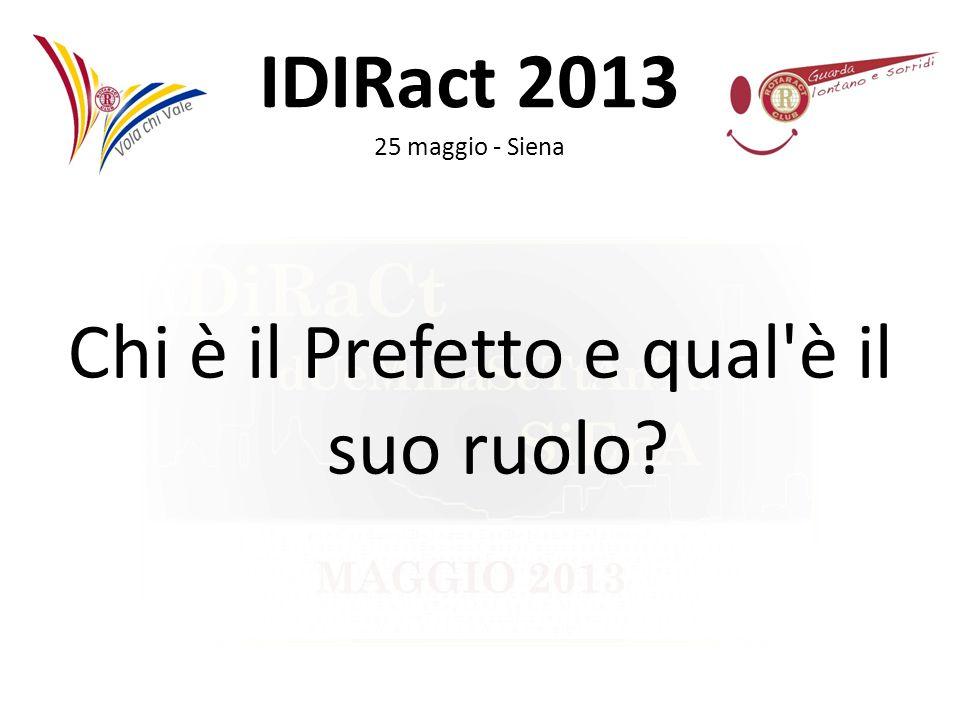 IDIRact 2013 25 maggio - Siena Chi è il Prefetto e qual'è il suo ruolo?