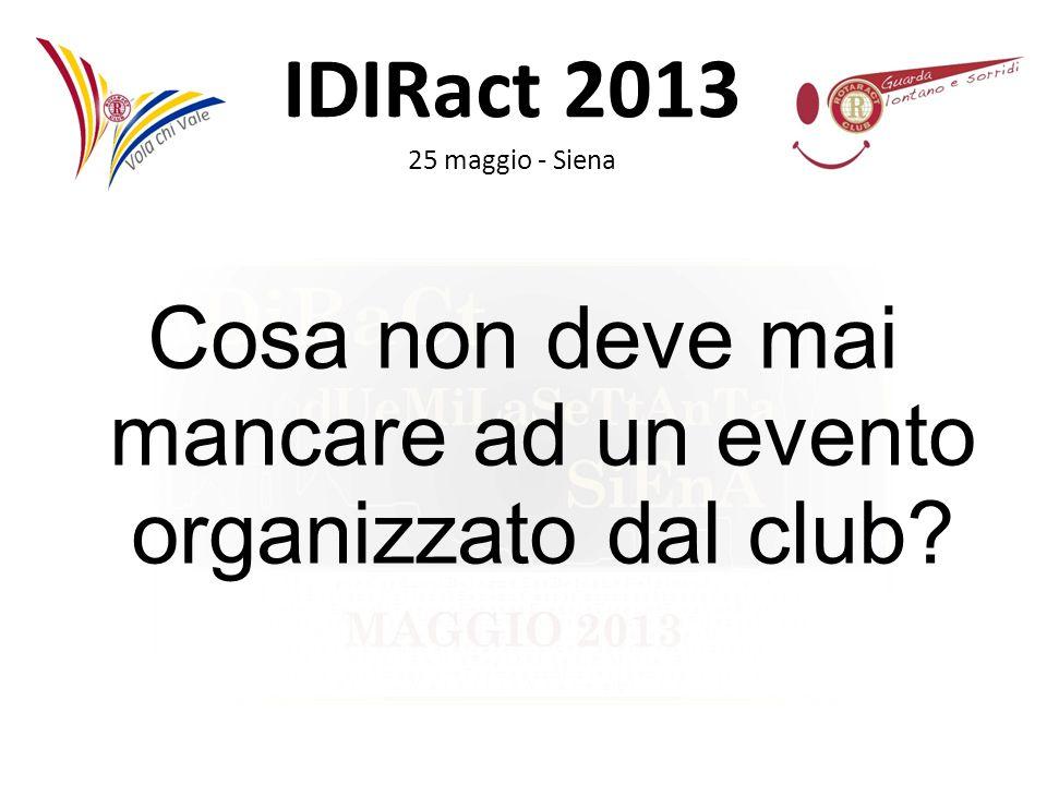 IDIRact 2013 25 maggio - Siena INNI: Gli inni vanno eseguiti in occasione di manifestazioni di rilievo.
