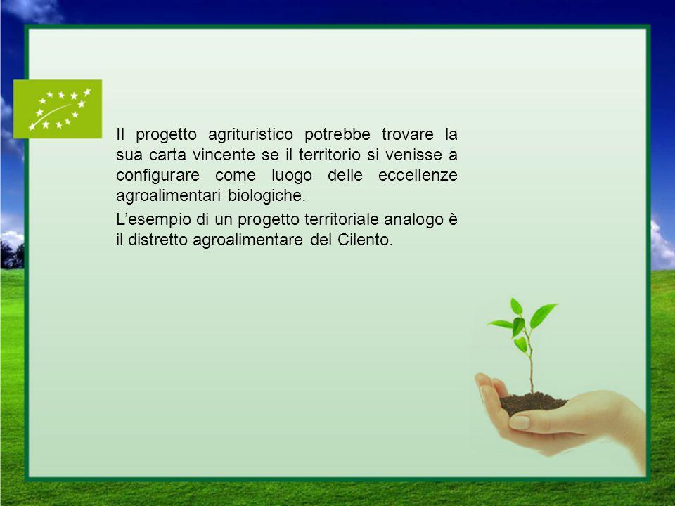 Il progetto agrituristico potrebbe trovare la sua carta vincente se il territorio si venisse a configurare come luogo delle eccellenze agroalimentari