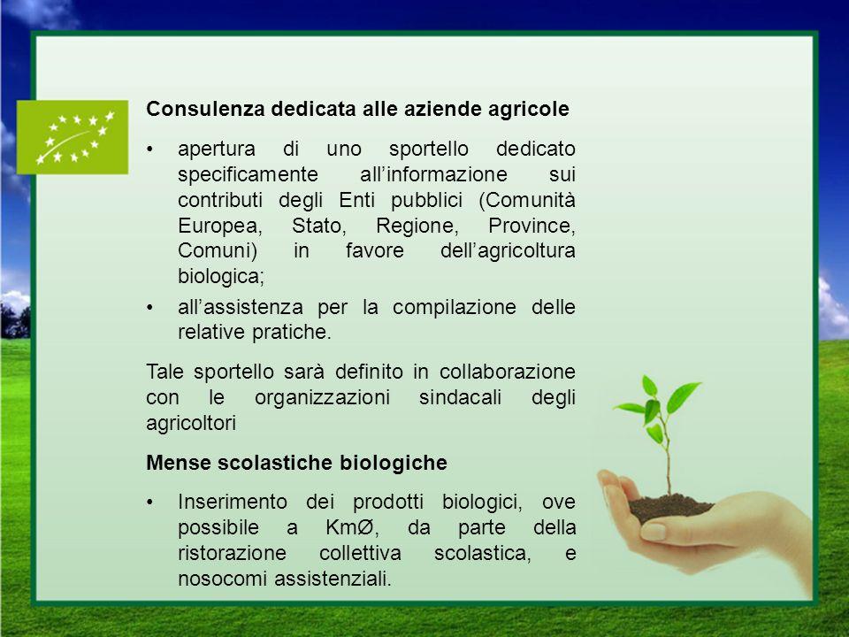 Consulenza dedicata alle aziende agricole apertura di uno sportello dedicato specificamente allinformazione sui contributi degli Enti pubblici (Comuni
