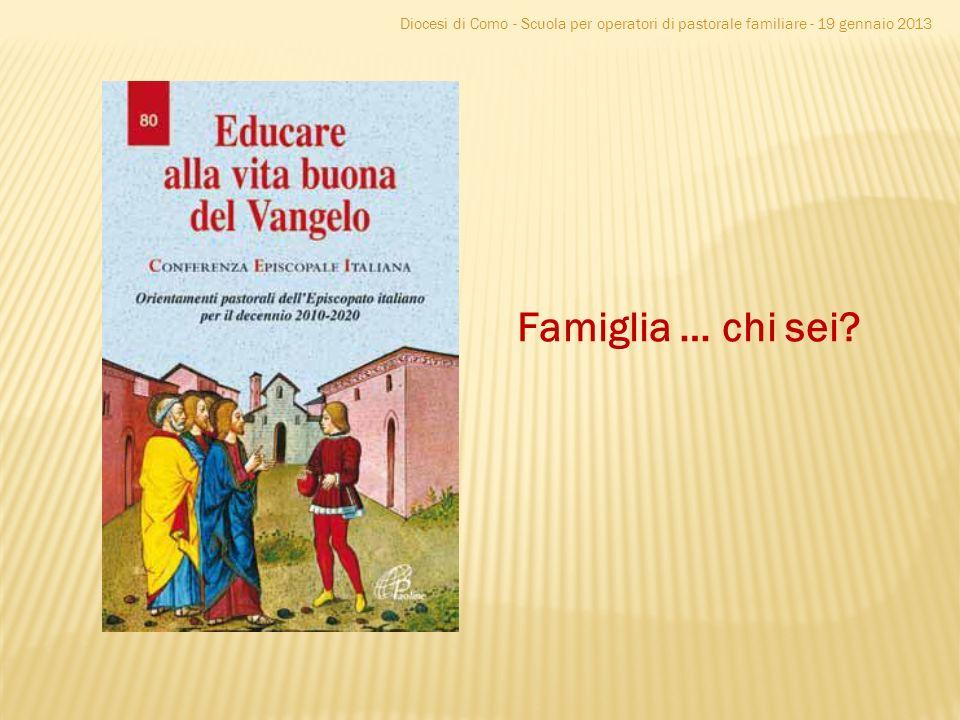 Diocesi di Como - Scuola per operatori di pastorale familiare - 19 gennaio 2013 Famiglia … chi sei?