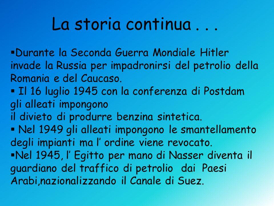 Durante la Seconda Guerra Mondiale Hitler invade la Russia per impadronirsi del petrolio della Romania e del Caucaso. Il 16 luglio 1945 con la confere