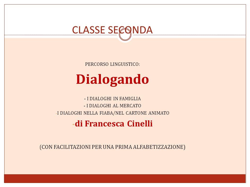 CLASSE SECONDA PERCORSO LINGUISTICO: Dialogando - I DIALOGHI IN FAMIGLIA - I DIALOGHI AL MERCATO - I DIALOGHI NELLA FIABA/NEL CARTONE ANIMATO - di Fra
